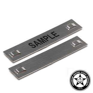 Stainless steel identification tags AISI 304 with laser marking upon request