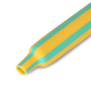 Yellow-green heat shrink tubes with shrink ratio 2:1