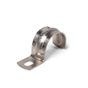 Single flap stainless steel clamp