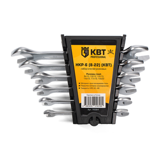 Set of open-end wrenches НКР-6 (8-22) (КВТ)