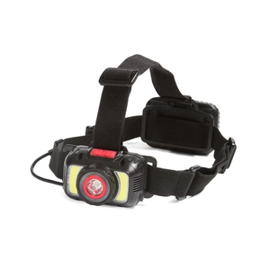 Head flashlight with separate battery compartment