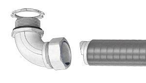Муфты вводные для металлорукава в усиленной ПВХ изоляции